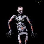 """Bodypainting """"Roboter"""""""