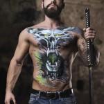 """Bodypainting """"Samurai-Skull"""""""